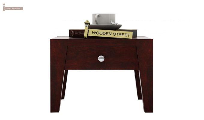 Bois Bedside Table (Mahogany Finish)-2