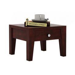 Bois Bedside Table (Mahogany Finish)