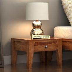 Bois Bedside Table (Teak Finish)