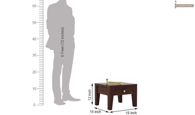 Bois Bedside Table (Walnut Finish)-4