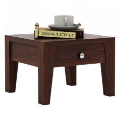 Bois Bedside Table (Walnut Finish)
