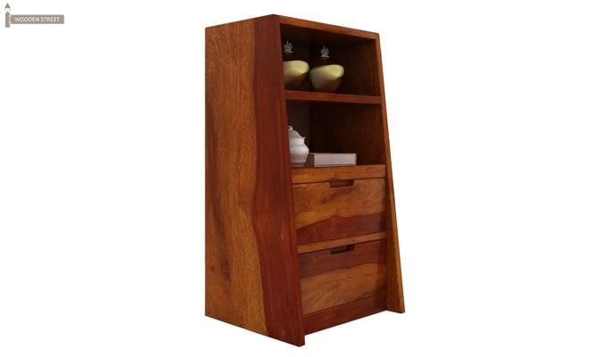 Bolivia Bedside Table (Honey Finish)-2