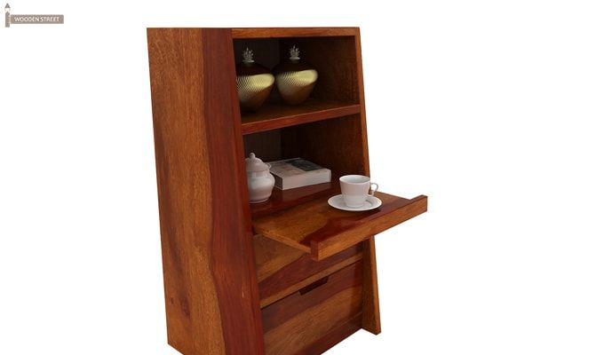 Bolivia Bedside Table (Honey Finish)-4