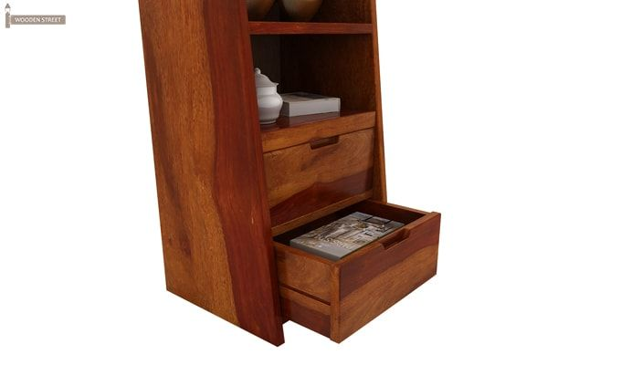 Bolivia Bedside Table (Honey Finish)-5