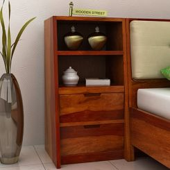 Bolivia Bedside Table (Honey Finish)