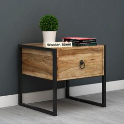 Bron Loft Bedside Table (Natural Finish)