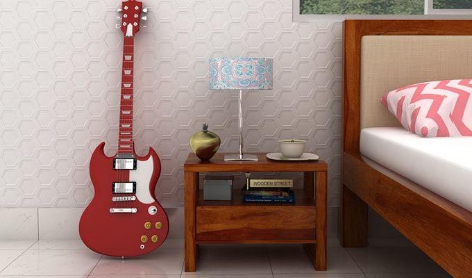 Bryson Bedside Table (Honey Finish)-1