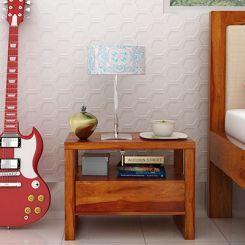 Bryson Bedside Table (Honey Finish)