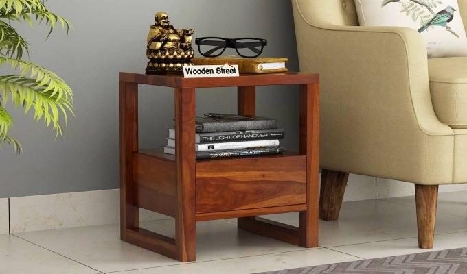 Bryson Bedside Table (Honey Finish)-1