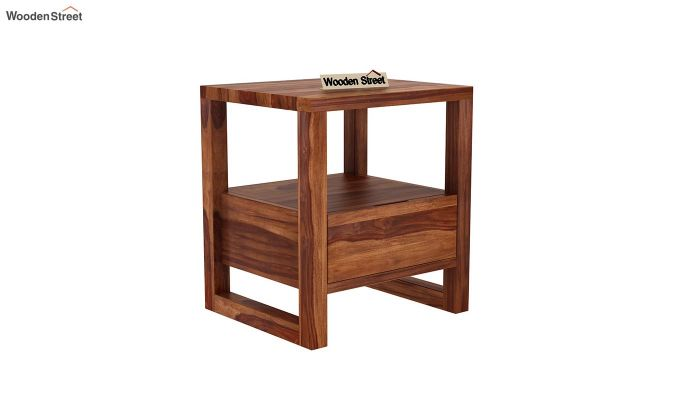 Bryson Bedside Table (Teak Finish)-2