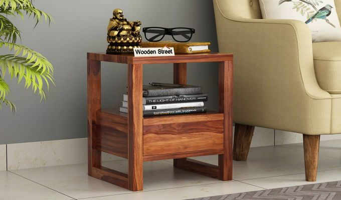 Bryson Bedside Table (Teak Finish)-1