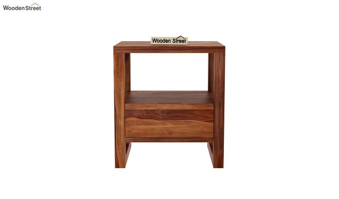 Bryson Bedside Table (Teak Finish)-3