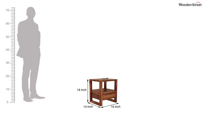 Bryson Bedside Table (Teak Finish)-5