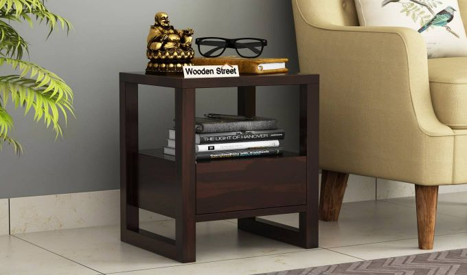 Bryson Bedside Table (Walnut Finish)-1