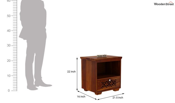 Cambrey Bedside Table (Honey Finish)-3