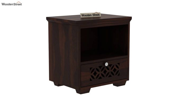 Cambrey Bedside Table (Walnut Finish)-2