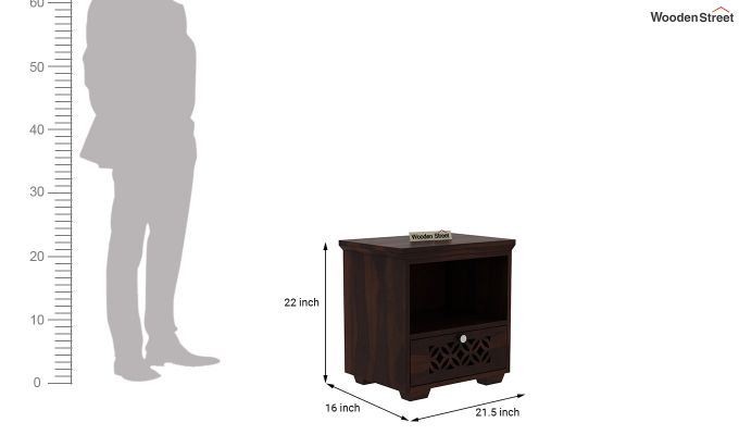 Cambrey Bedside Table (Walnut Finish)-3