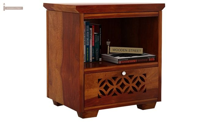 Cambrey Bedside Table (Honey Finish)-2