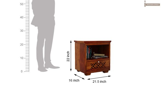 Cambrey Bedside Table (Honey Finish)-4