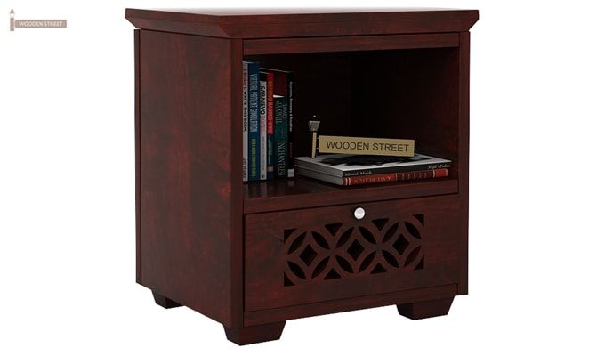 Cambrey Bedside Table (Mahogany Finish)-1