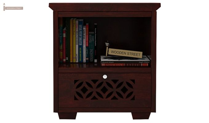 Cambrey Bedside Table (Mahogany Finish)-2