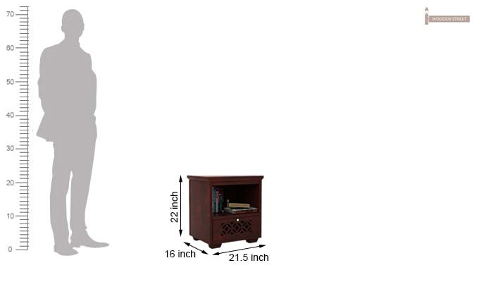 Cambrey Bedside Table (Mahogany Finish)-3