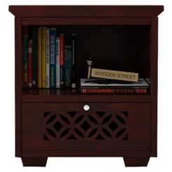 Cambrey Bedside Table (Mahogany Finish)