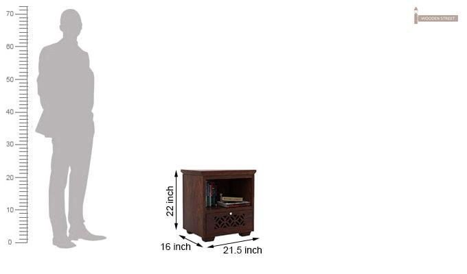 Cambrey Bedside Table (Walnut Finish)-3