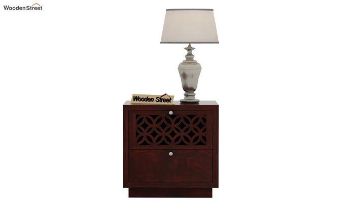 Cambrey Designed Bedside Table (Mahogany Finish)-2