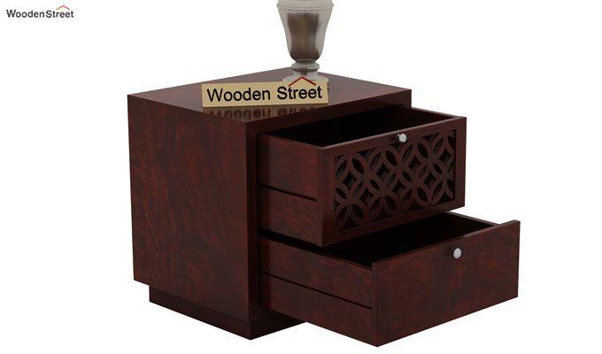 Cambrey Designed Bedside Table (Mahogany Finish)-4
