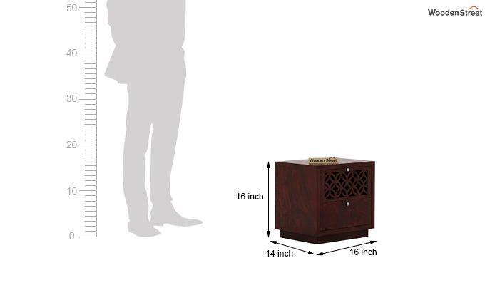 Cambrey Designed Bedside Table (Mahogany Finish)-5