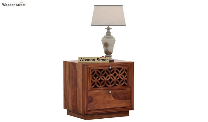 Cambrey Designed Bedside Table (Teak Finish)-1