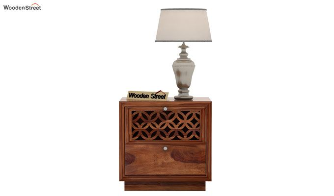 Cambrey Designed Bedside Table (Teak Finish)-2