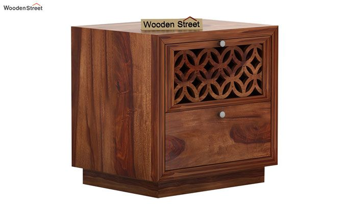 Cambrey Designed Bedside Table (Teak Finish)-3