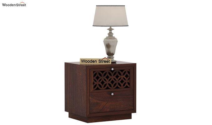 Cambrey Designed Bedside Table (Walnut Finish)-1