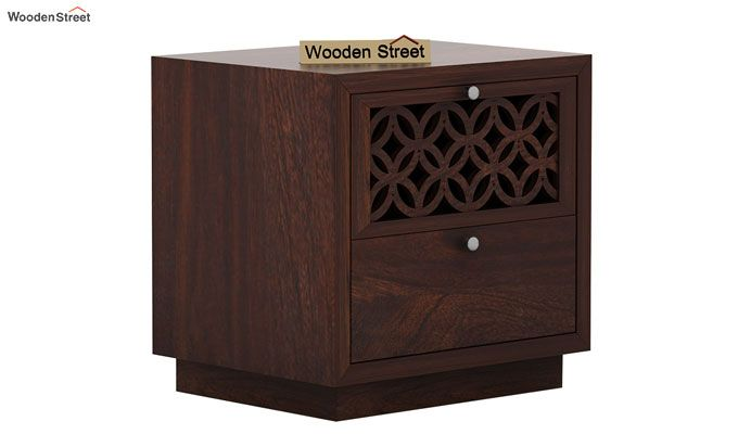 Cambrey Designed Bedside Table (Walnut Finish)-3