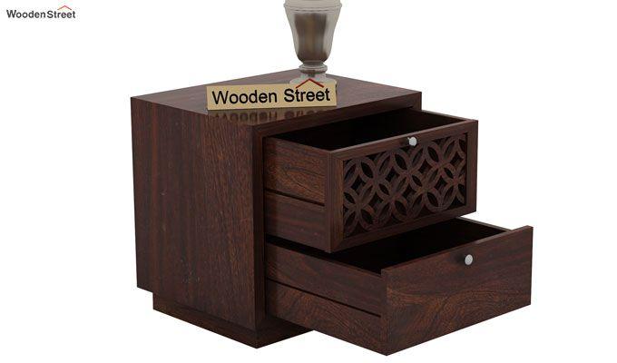 Cambrey Designed Bedside Table (Walnut Finish)-4