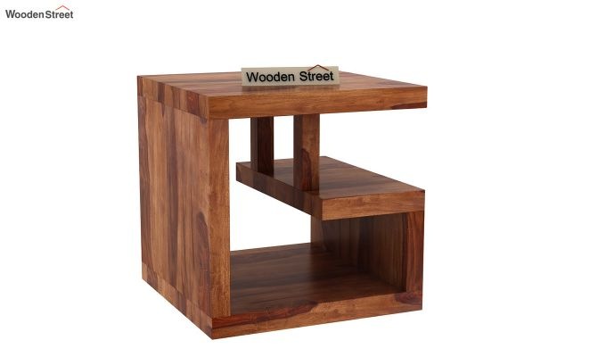 Carden Bedside Table (Teak Finish)-2