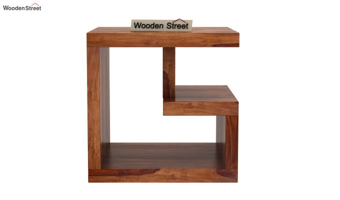Carden Bedside Table (Teak Finish)-3