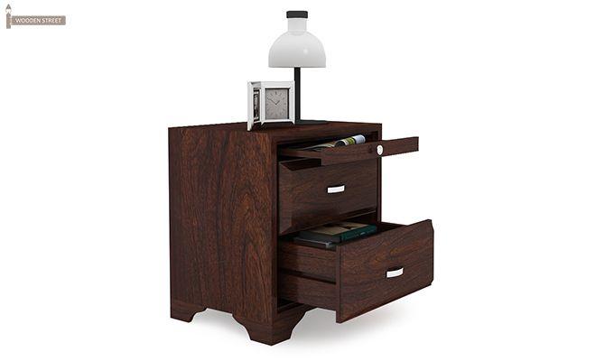 Carlton Bedside Table (Walnut Finish)-3