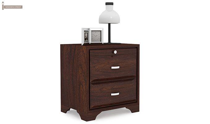 Carlton Bedside Table (Walnut Finish)-4