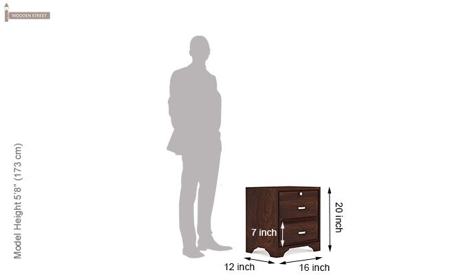 Carlton Bedside Table (Walnut Finish)-5