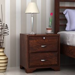 Carlton Bedside Table (Walnut Finish)