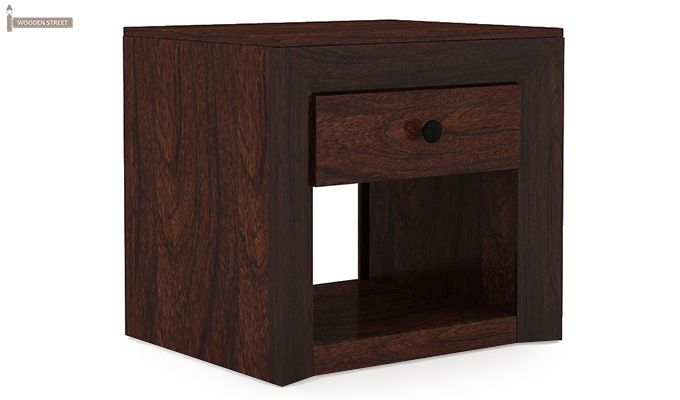 Carvel Bedside Table (Walnut Finish)-2