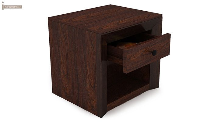 Carvel Bedside Table (Walnut Finish)-7