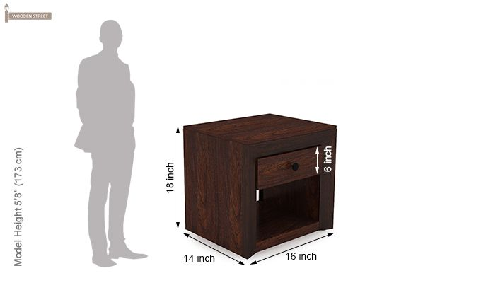 Carvel Bedside Table (Walnut Finish)-8
