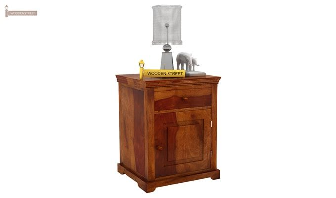 Charles Bedside Table (Honey Finish)-1