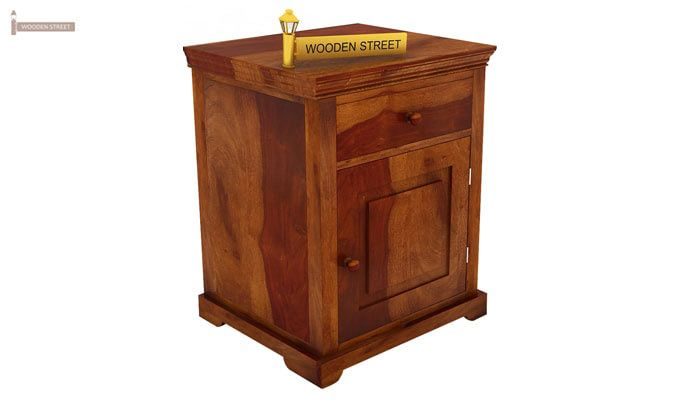 Charles Bedside Table (Honey Finish)-2