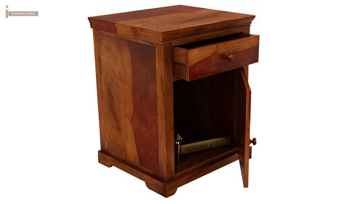 Charles Bedside Table (Honey Finish)-4