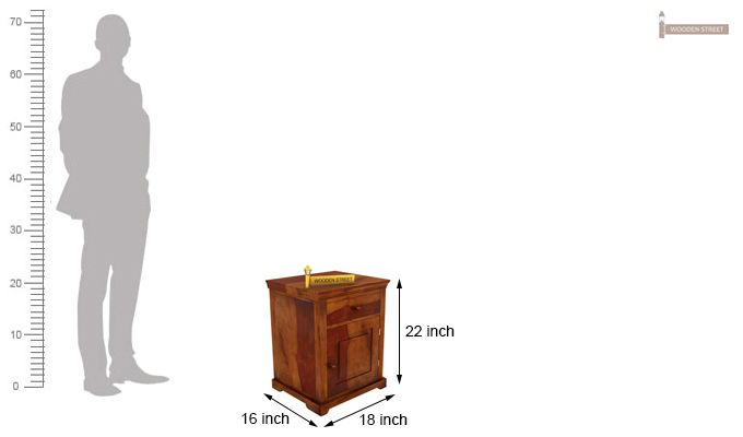 Charles Bedside Table (Honey Finish)-5